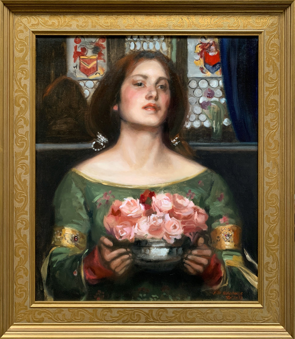 "Copy after Waterhouse's ""Gather ye rosebuds while ye may"""