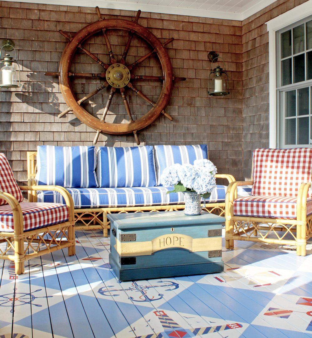 """Making Waves"" - Summer 2018Check out our latest project featured in Connecticut Cottages in Gardens, February 2018. A Nantucket compound facing the Atlantic and filled with signature Anthony Baratta style. Click on the photo to read more!"