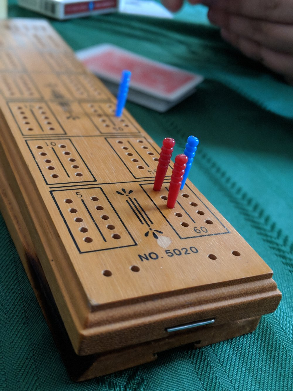 Cribbage w the boy