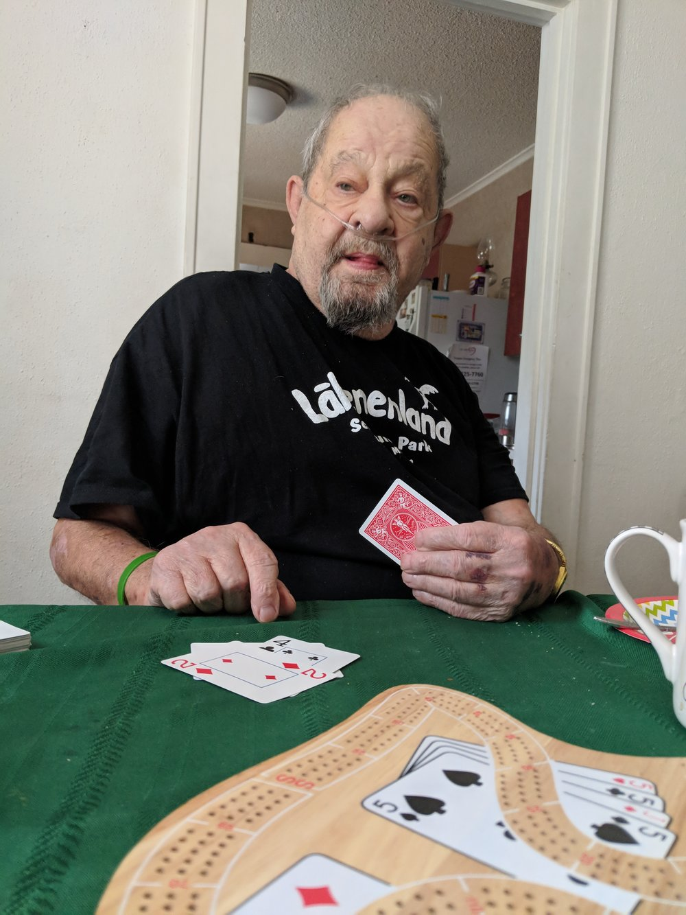 9. Cribbage - I visited my dad in October to go hunting. See this post about that trip. We got in a game of cribbage which is always important.. Edit. My father passed away the day after I wrote this. This would be our last game of Cribbage.