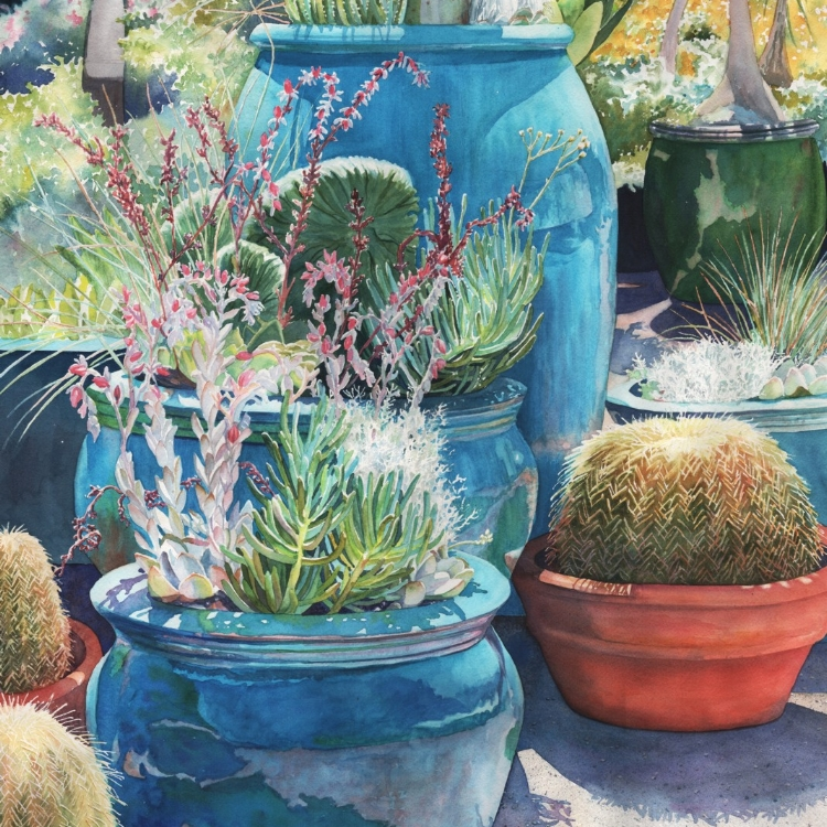 """Desert Charms"" Watercolor by Lorraine Watry"
