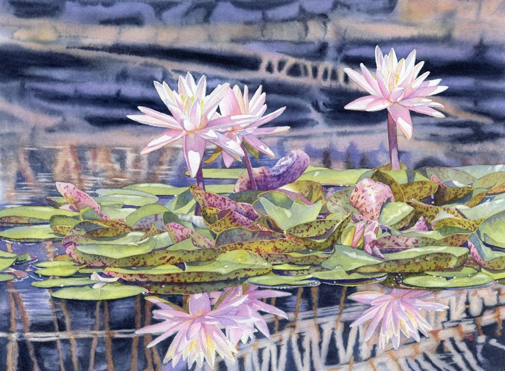 Bamboo and Lilies © Lorraine Watry