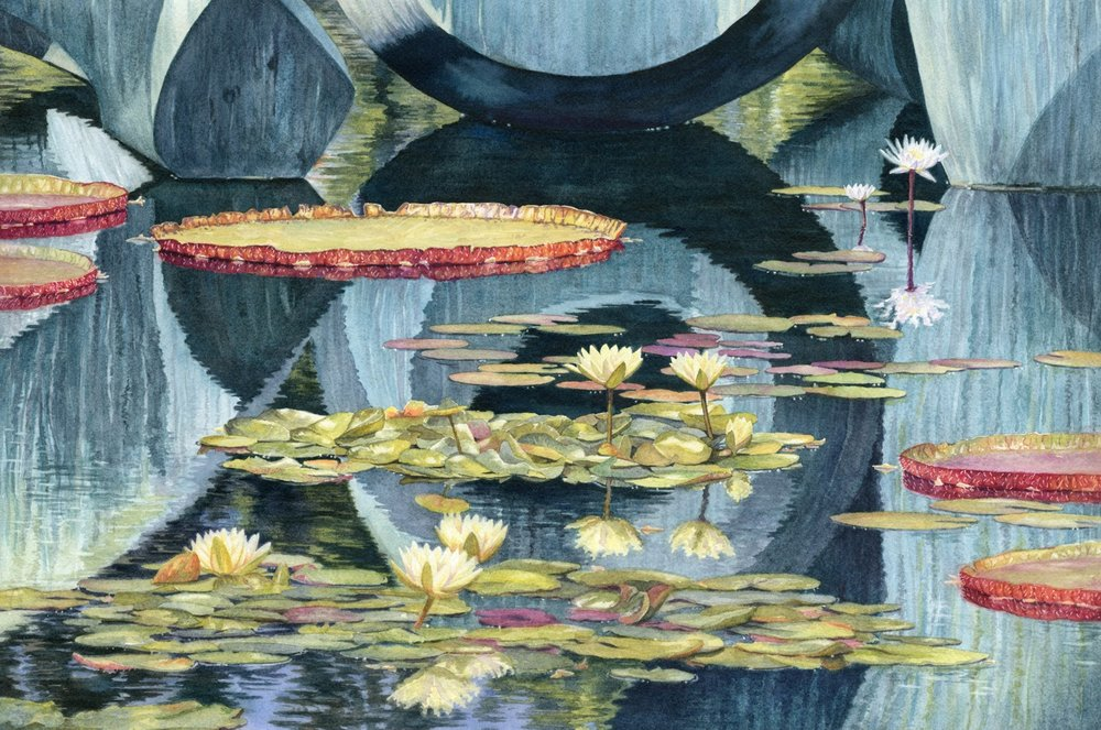 Henry Moore Meets Monet © Lorraine Watry
