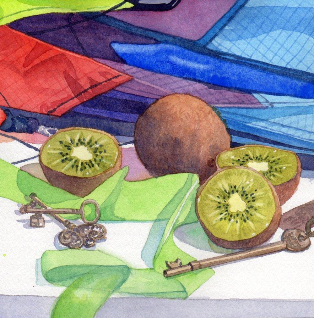 Day 23 Kite Kiwi and Keys © Lorraine Watry