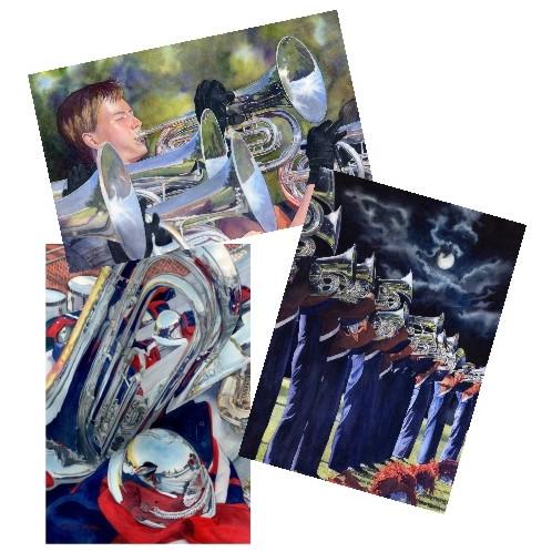 blank-note-cards-marching-band-prints-lorraine-watry.jpg