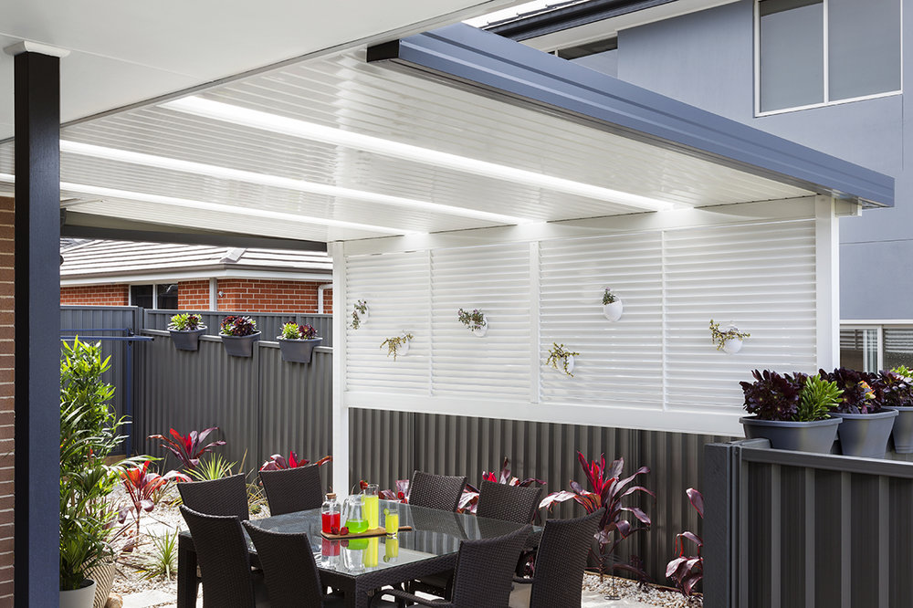 Patio Awnings - Relax outside all year round under the shade of a stylish patio awning Custom designed to suit your home and your budget.