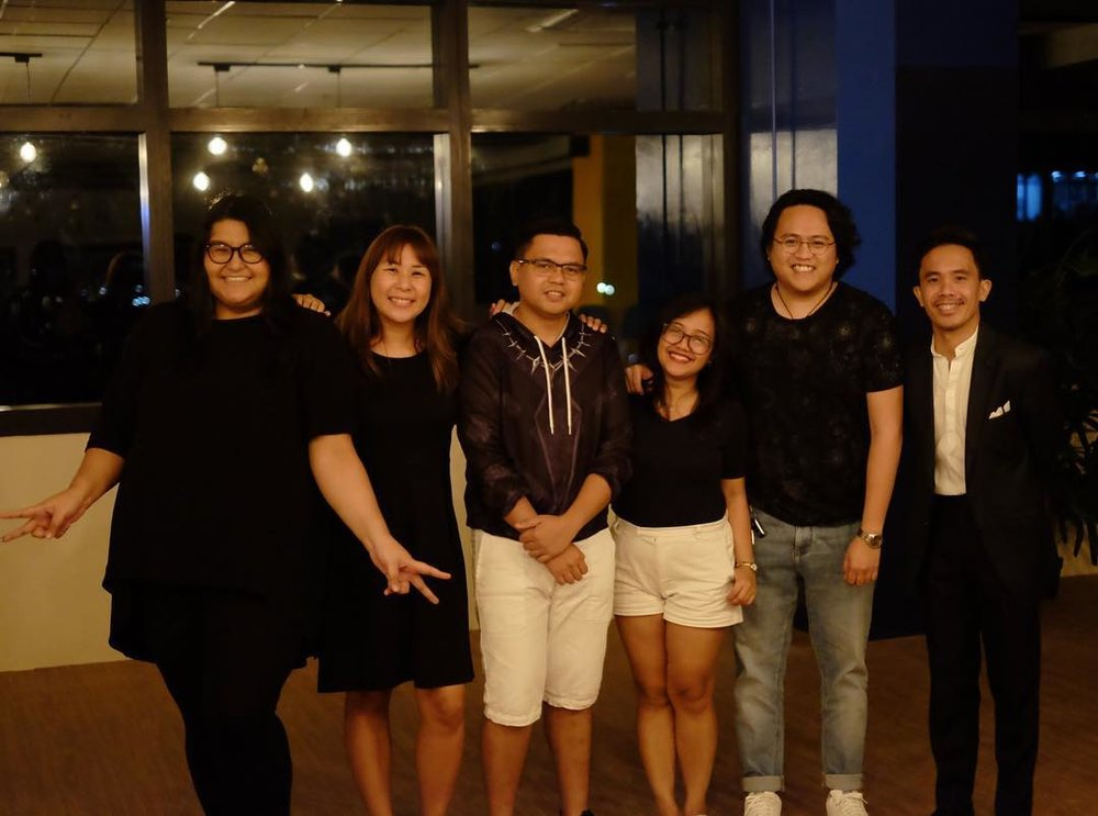 The Storytellers for the night. Thank you Carla, Rey, Kim, Miggi, Alyssa and the host Donald Villamero and organizer and founder, Rachel Arandilla