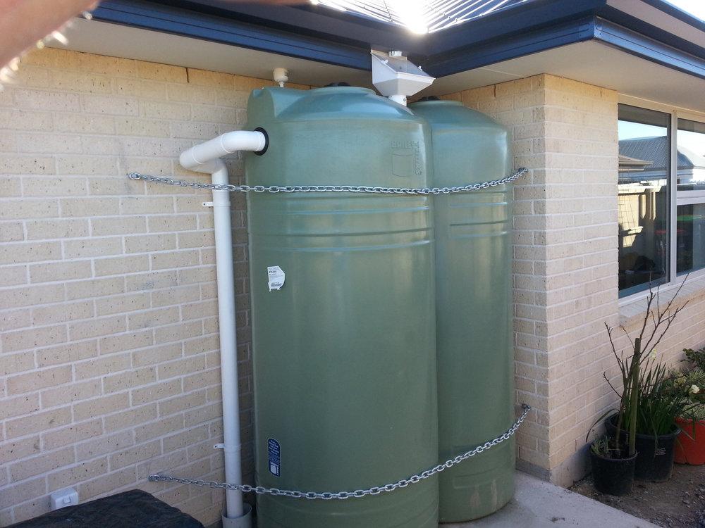 Rainwater catch tanks
