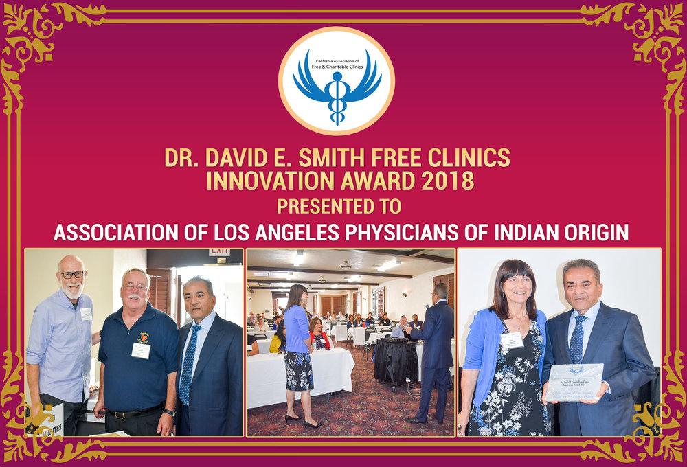 Dr. David E. Smith Free Clinics Innovation Award 2018 to ALAPIO.org