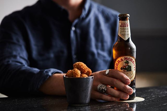 We enjoy our olives stuffed, crumbed, and washed down with a cold beer