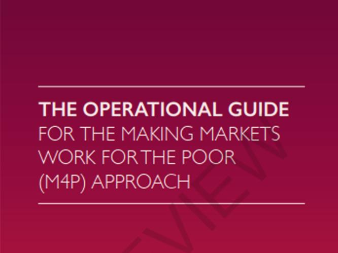 Le guide opérationnelpour les marchés fabricantstravaillez pour les pauvres(m4p) -
