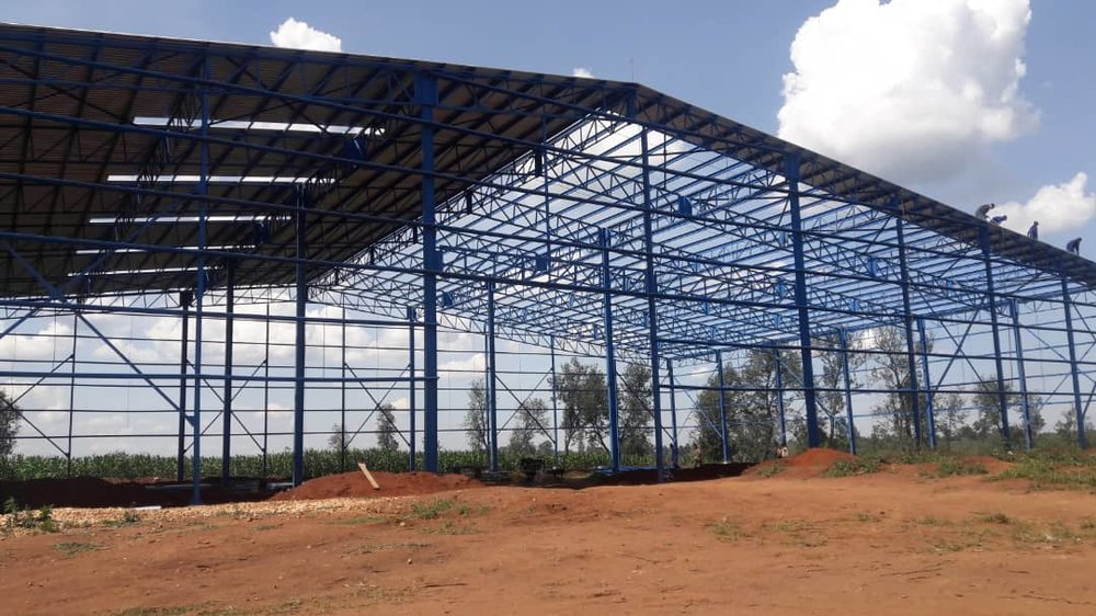 A view of NASECO's building under construction.
