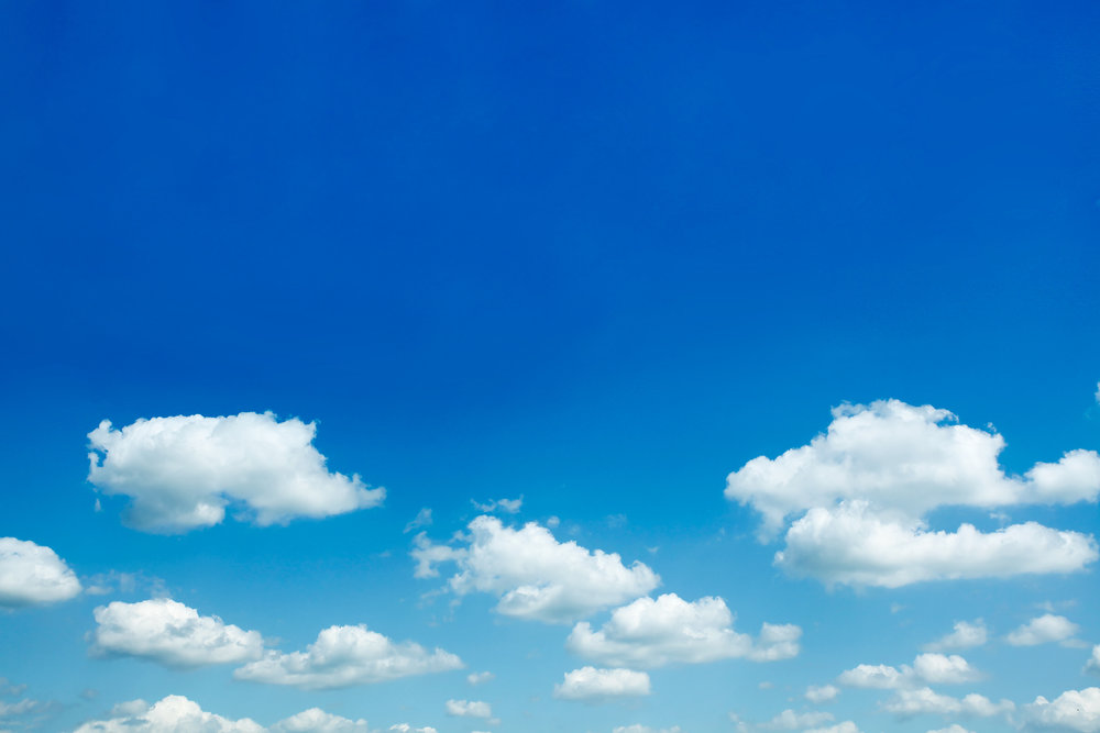 Life is not all blue skies and fluffy white clouds