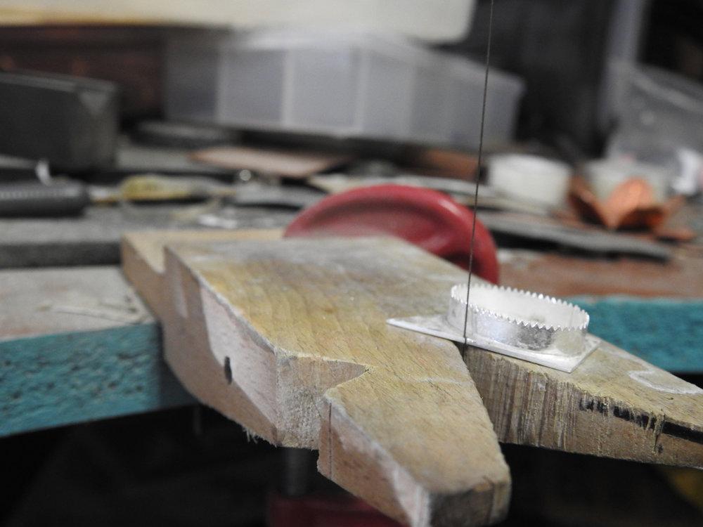 trim excess metal