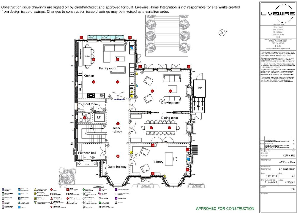 Layout drawings are used for everything from general arrangement to wifi zone management and cable containment routing.