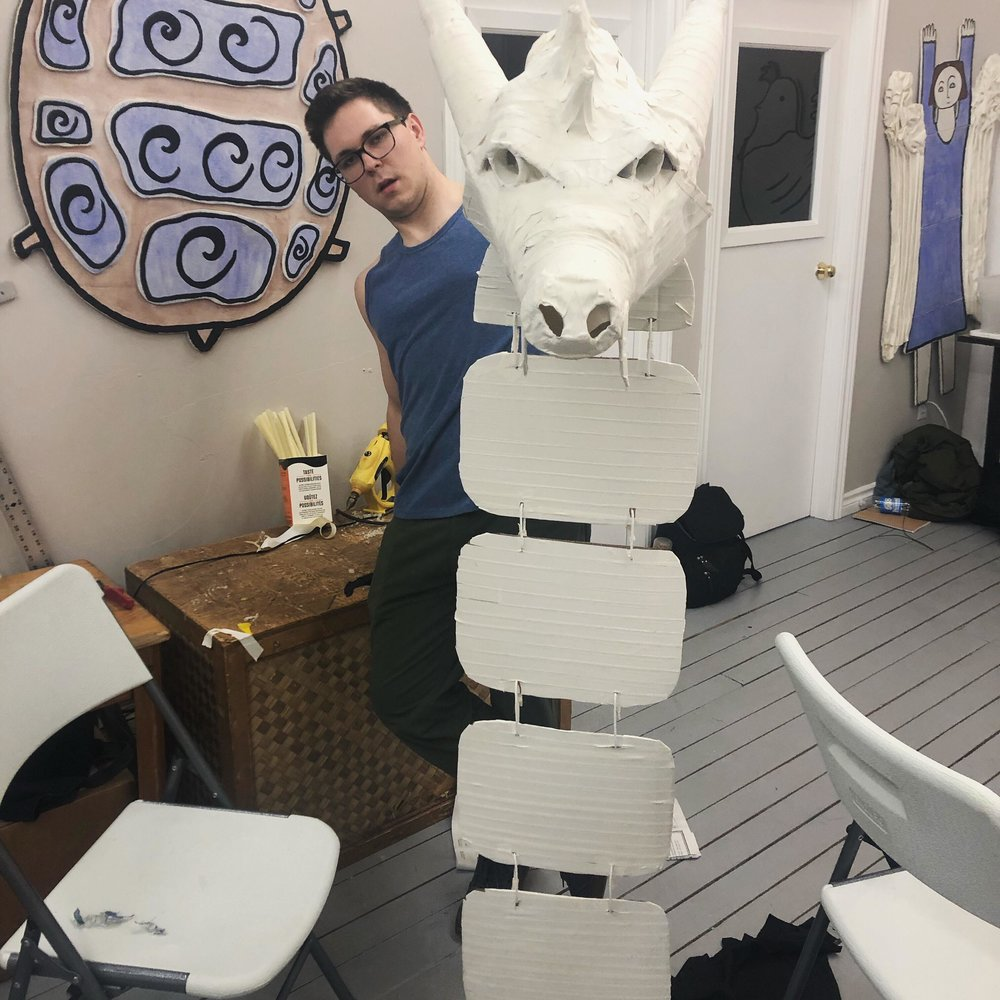 Laura-Beth Bird. Recycled puppet challenge. Mermaid Theatre of Nova Scotia. Animotion 2019.