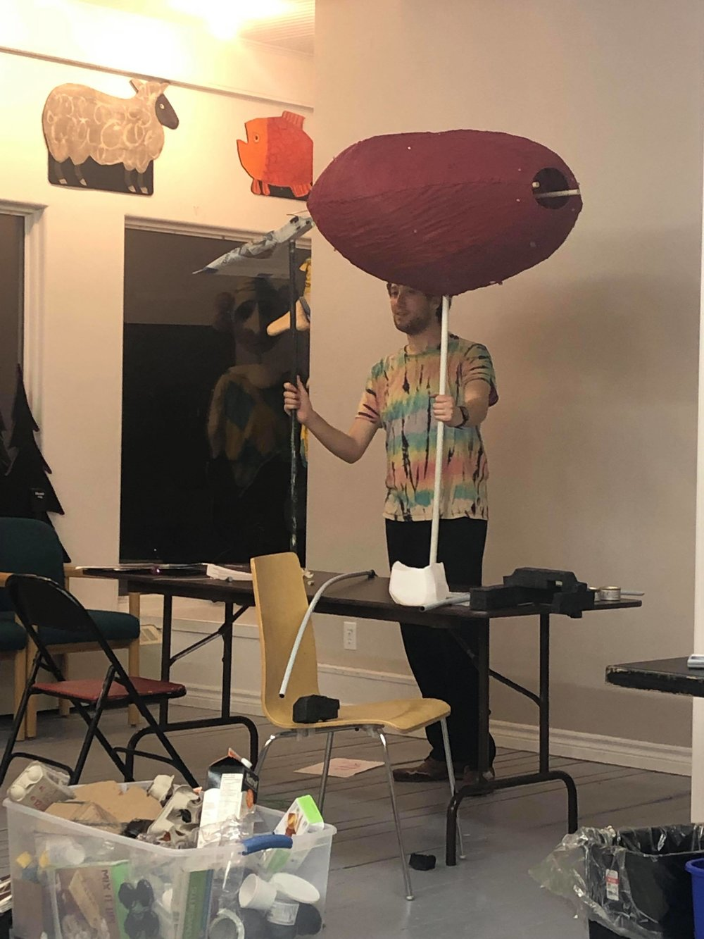 Recycled puppet challenge. Mermaid Theatre of Nova Scotia. Animotion 2019.