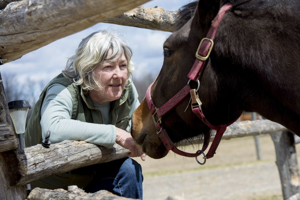 Tanya Boyd with rescued horse Demi