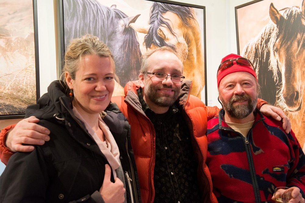 Kristin Reimer, Louis Helbig and Mike Beedell