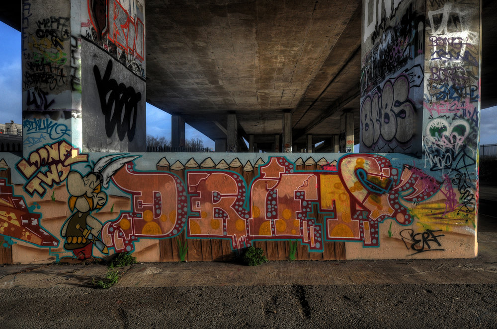 Hidden Under The Motorway - One of the places I liked to visit frequently to spend some alone 'me' time to ponder.Always new pieces of art to see on each visit.