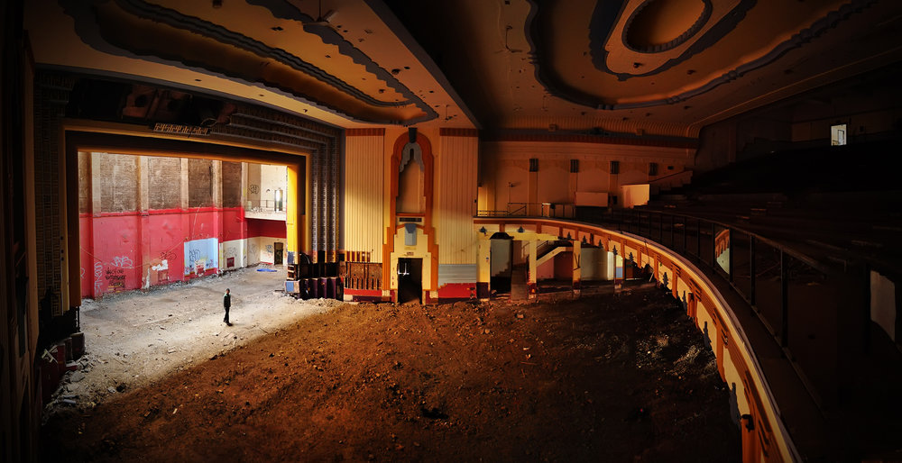 Memories Of The Silver Screen - Very stripped cinema.There were some nice art deco features still left in-situ though