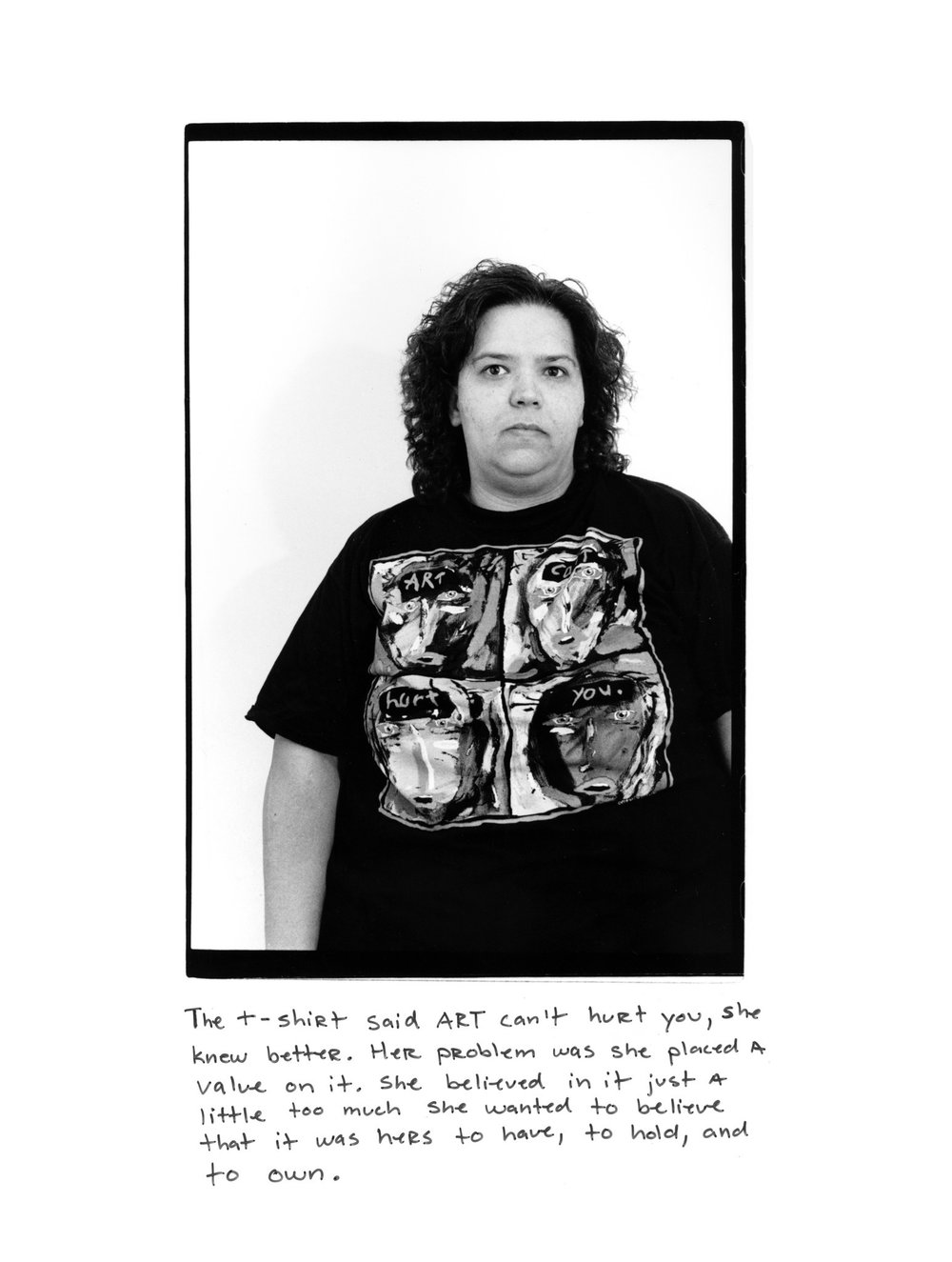 """""""Don't Tell Her Art Can't Hurt (Part A),"""" 1993, by Laura Aguilar. Laura Aguilar / UCLA Chicano Studies Research Center"""