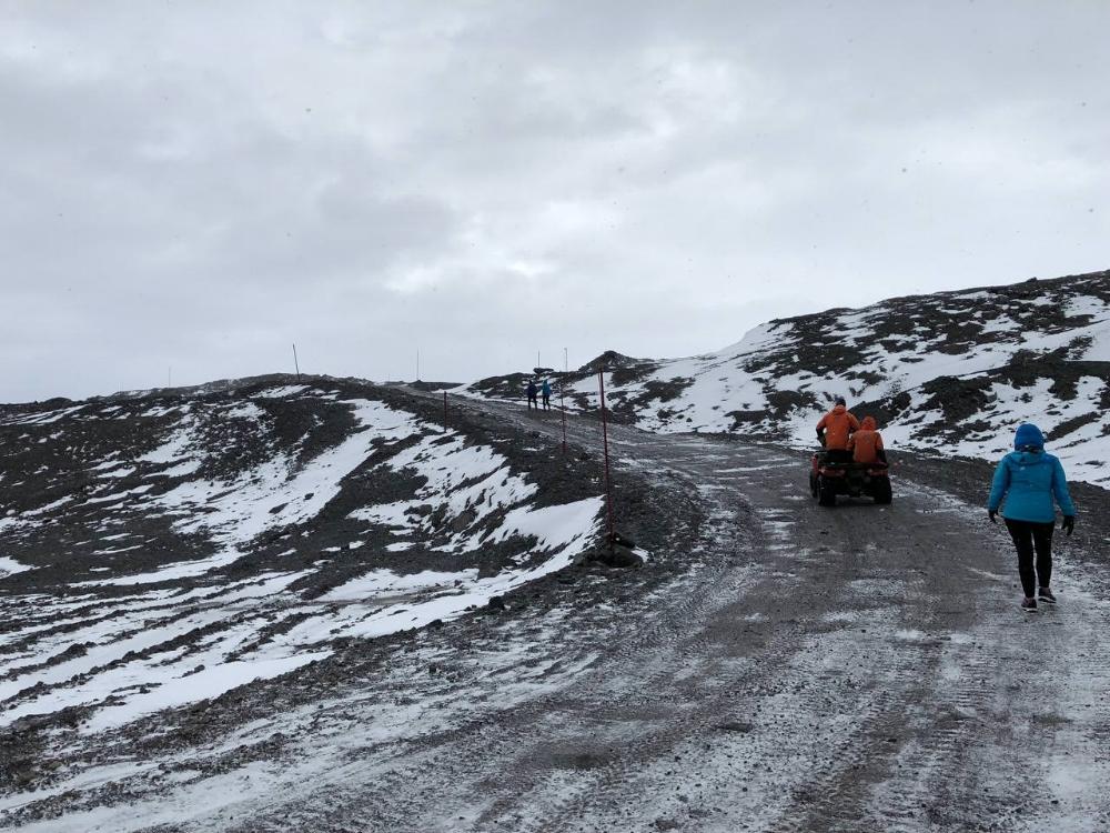 running antarctic marathon course