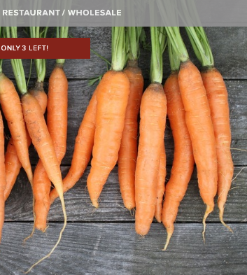 screenshot of carrots with only 3 left.