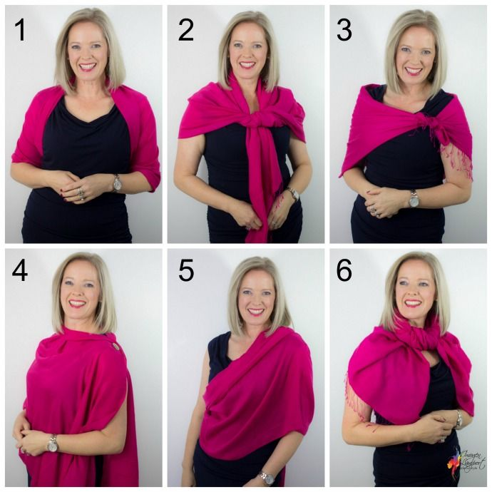 6 formas de usar pashminas e echarpes - Dicas de ''Inside Out Style''