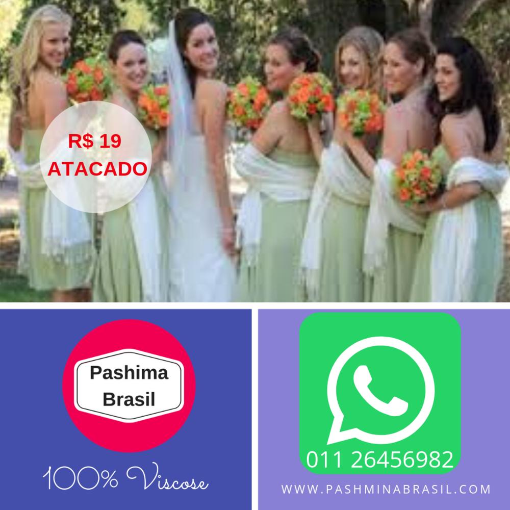 ''Echarpes e Xales para Madrinhas de Casamento em 100% Viscose''