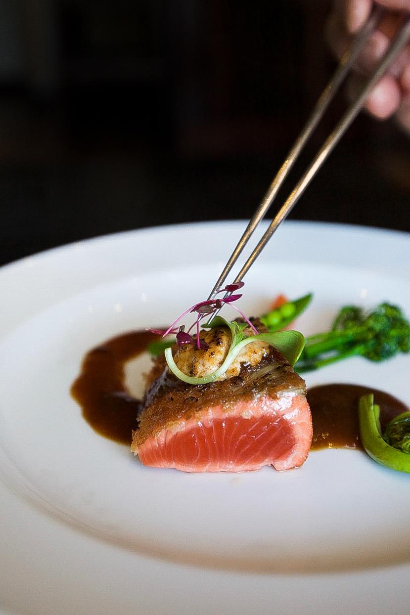 Seared Pacific Salmon steak