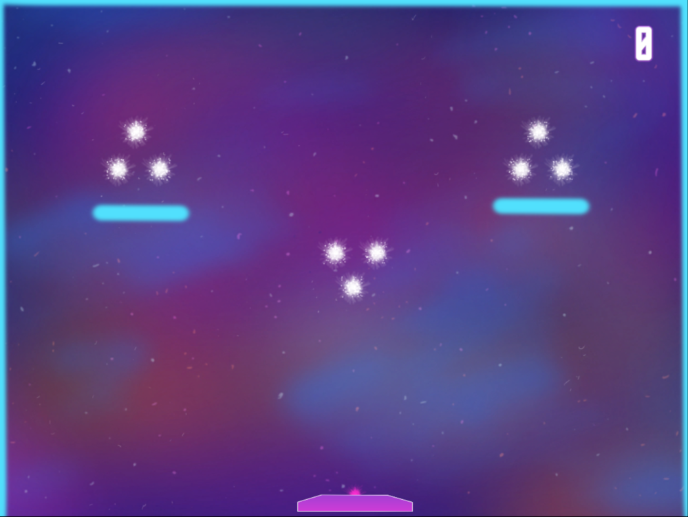 Level 1 - First Bounce:  Three stars that are near impossible to miss, introduces blocking block but easy to avoid.