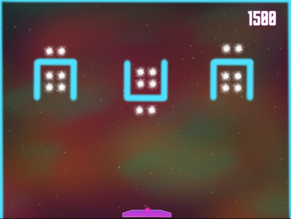 Level 2 - Skybox:  Introduces the necessity to drop in from above to break stars, also introduces stars in tight spaces.