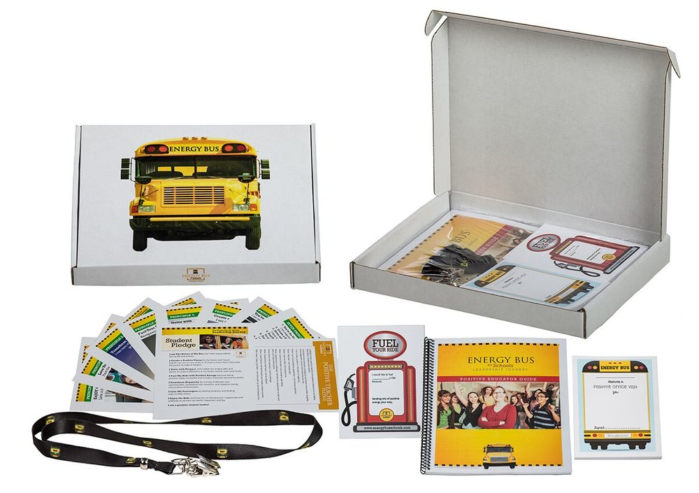 """Energy Bus School Kits  Available with the """"Train the Trainer"""" Experience"""