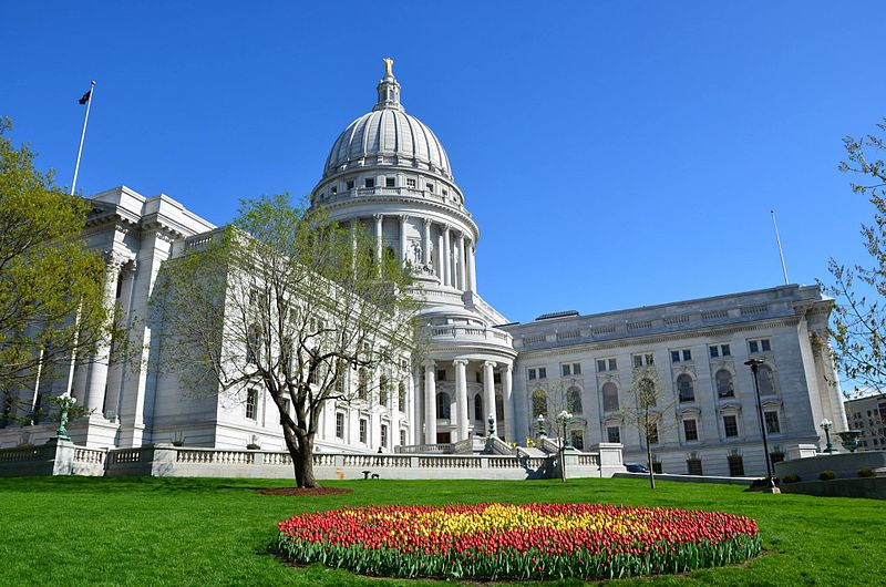 Wisconsin's state capital in downtown Madison