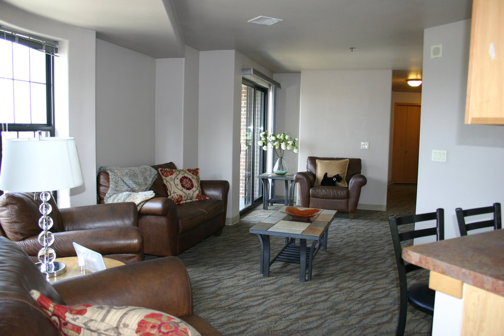 The Aberdeen Apartments make a great space for living with roommates