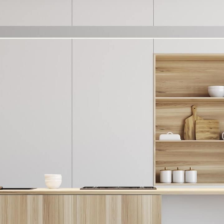 Armoires Mat absolu - Soyeux au toucher, le mat absolu offre un fini en velours pour créer un espace riche et élégant.