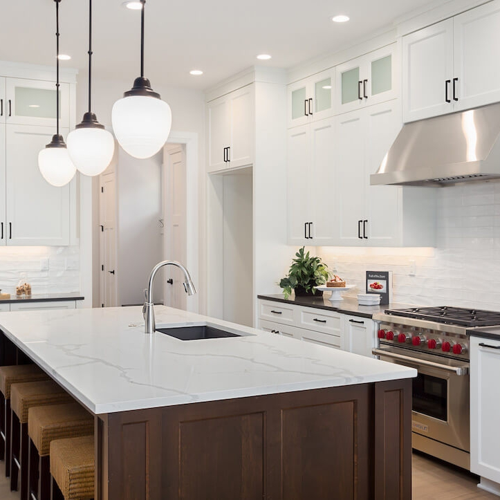 POLYESTER CABINETS - More durable than melamine, polyester is scratch resistant and easy to clean. Built without visible edges, a polyester kitchen will withstand daily use without worry.
