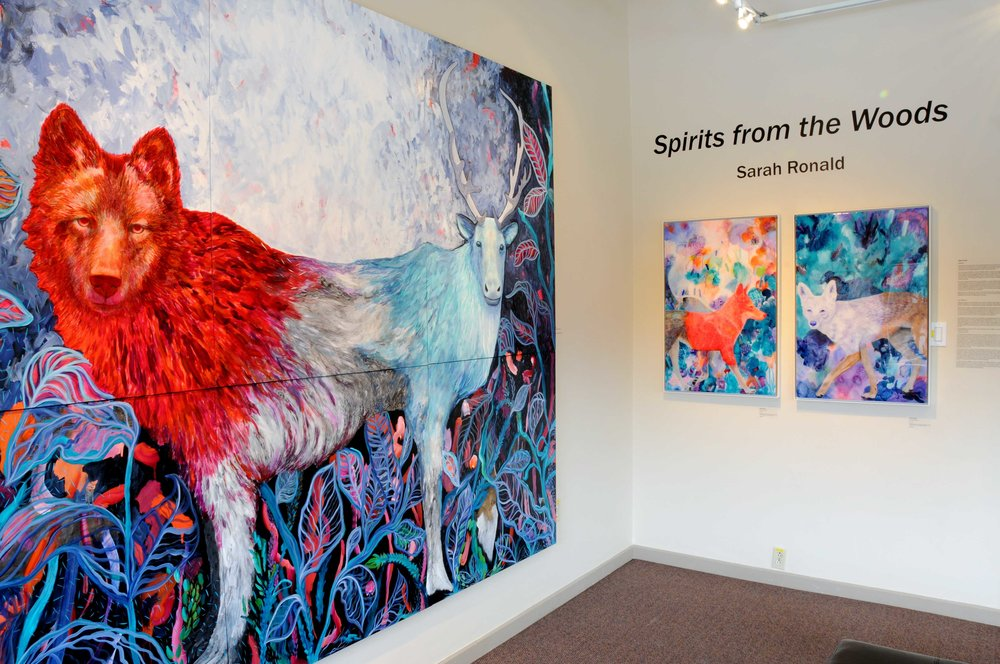 Spirits from the Woods , Installation view, Port Moody Arts Centre, BC
