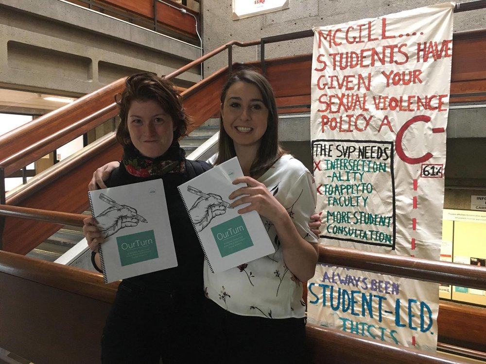 Image of SFCC Members holding the OurTurn Action Plan