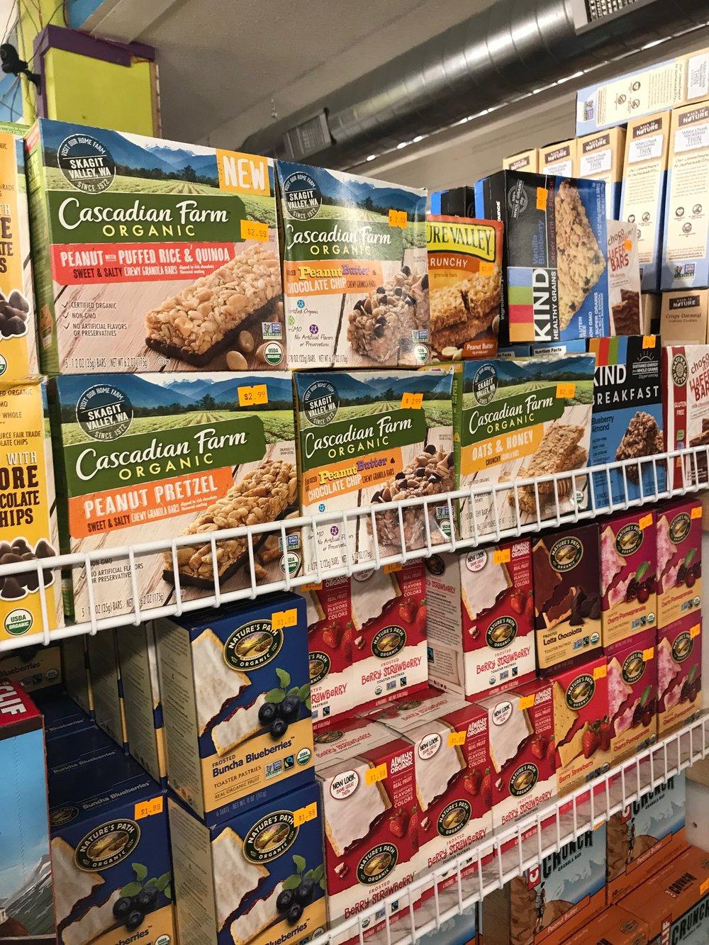 Organic Granola & Snack Bars -