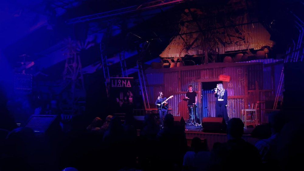 Gig with LIANA during the Back at Sea festival 2016 in Ouddorp (NL).