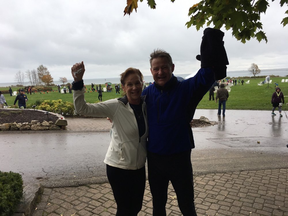 A great half marathon race on Mackinac Island with my good friend Paula Barron!