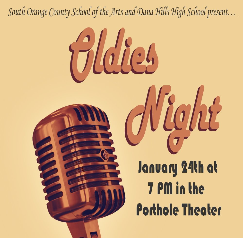 Come support our Instrumental and Vocal Music Arts students in Oldies Night! Publicity Image created by: Allyson Alldredge