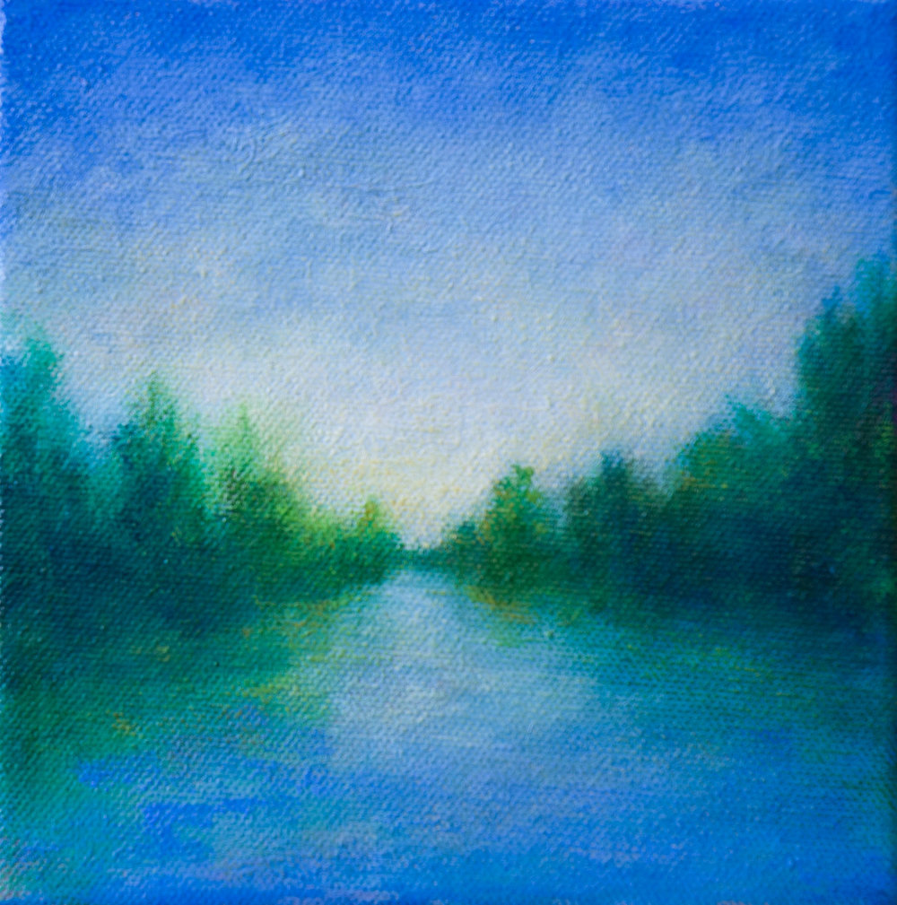 "Victoria Veedell, Early Summer Light 6""x6"""