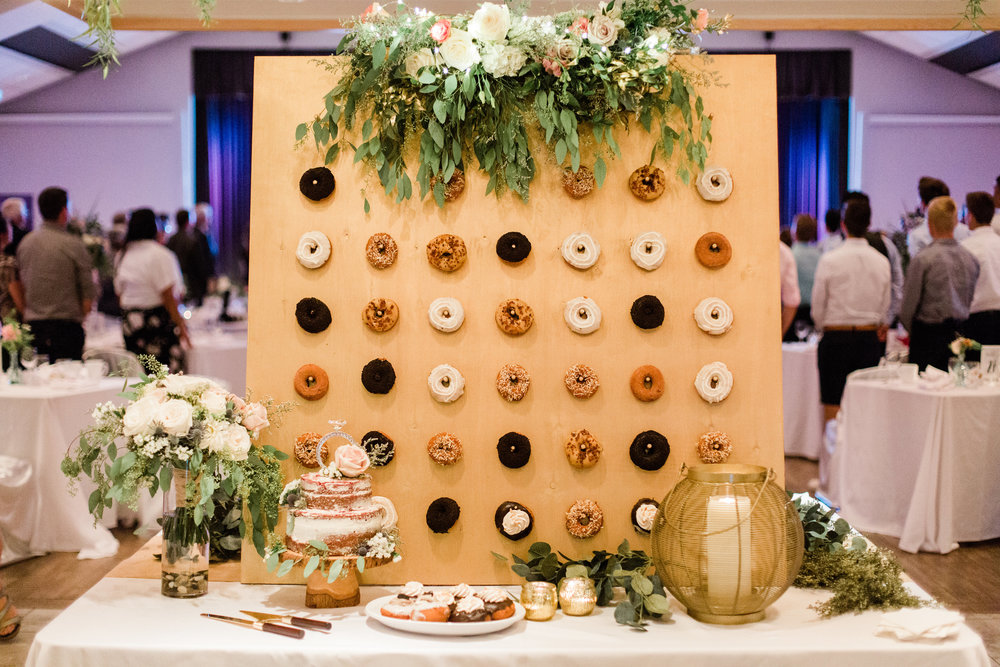 Donuts: Mavericks Donuts // Cake: Brooke Cinnamon // Florals: Riverwood Gardens