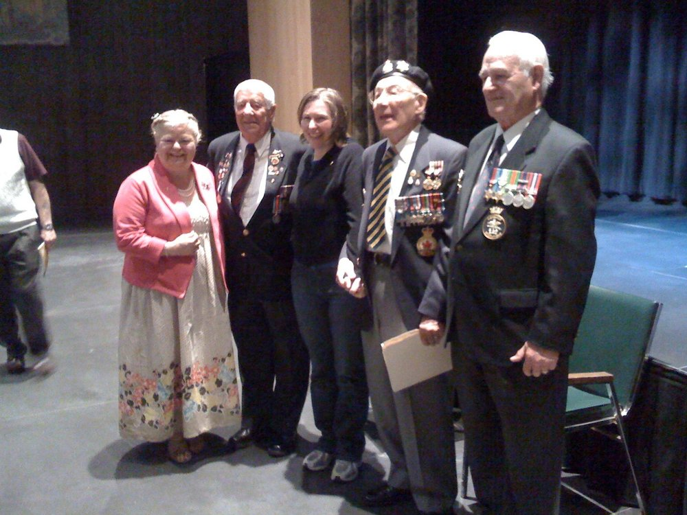 D Day veterans at the War Museum