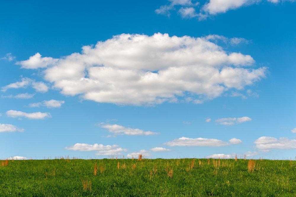 Landscape, Pasture, Clouds, Midwest, Color Photograph, Healing Art, Hospital Art, Interior Design, Wall Art