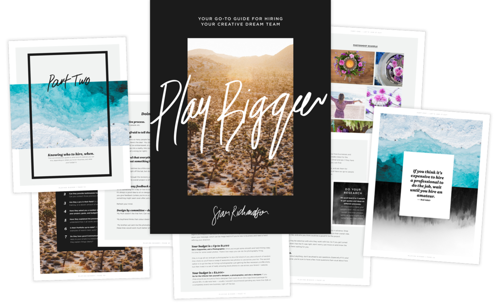 Play Bigger — a guidebook for pinpointing your project goals and hiring your creative dream team | Good As Gold Studio | Squarespace Design Kit Templates & DIY Branding