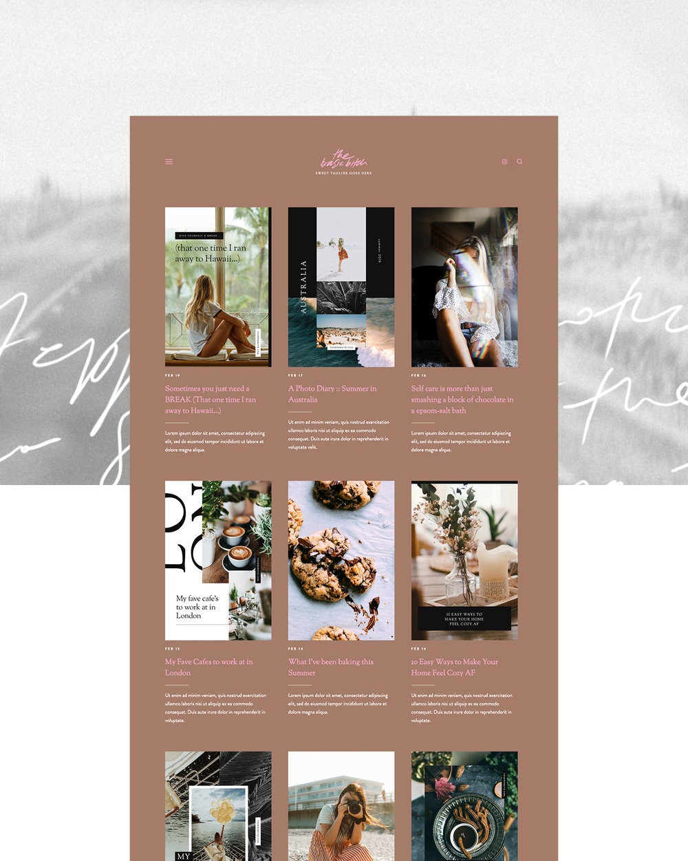 The Basic Bitch – Squarespace Design Kit |Good As Gold Studio | Squarespace Design Kit Templates & DIY Branding